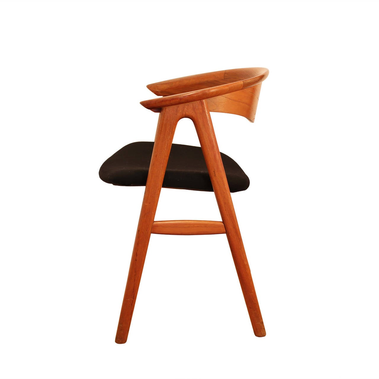 erik kirkegaard teak compass sculpted chair for sale at