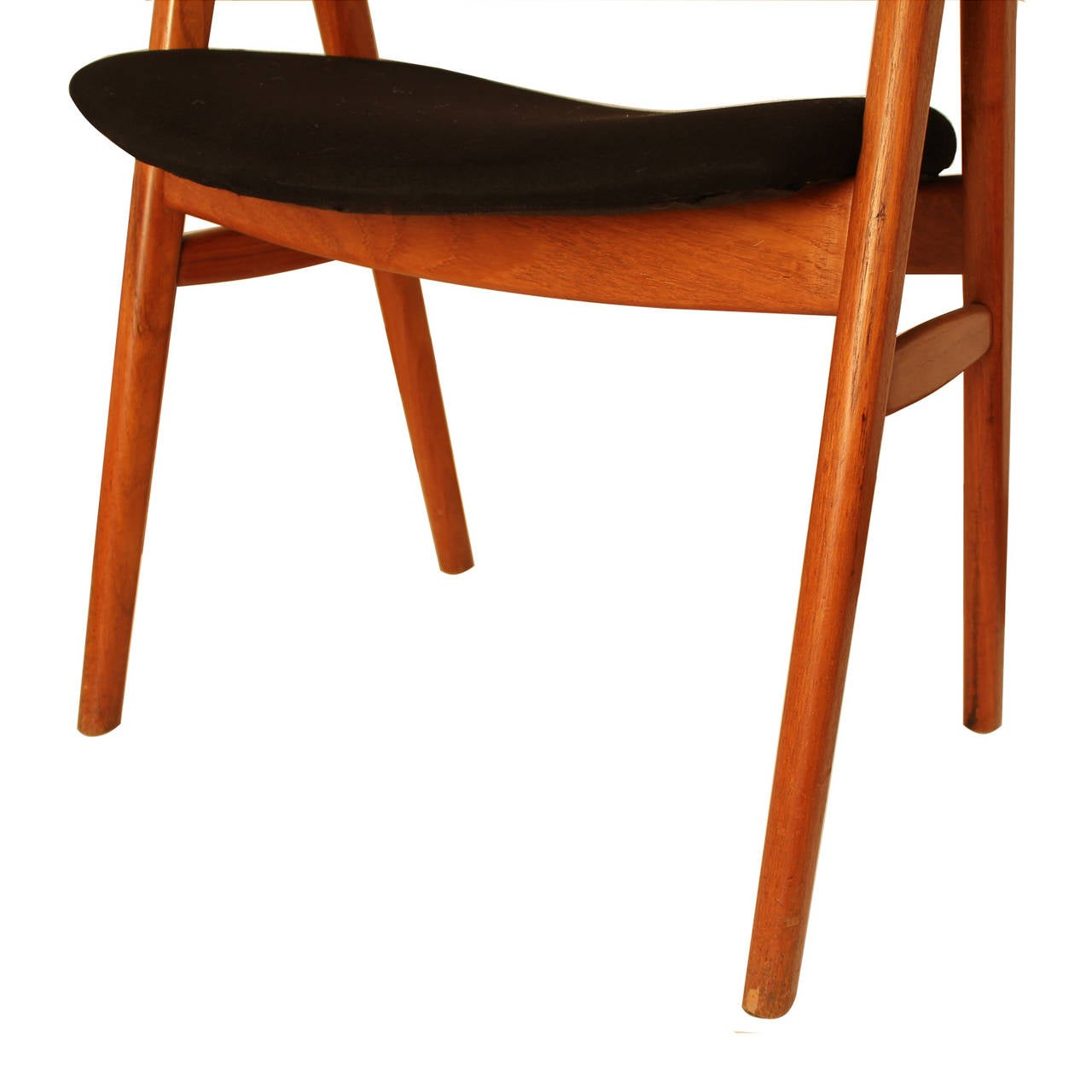 erik kirkegaard teak compass sculpted chair for sale at 1stdibs