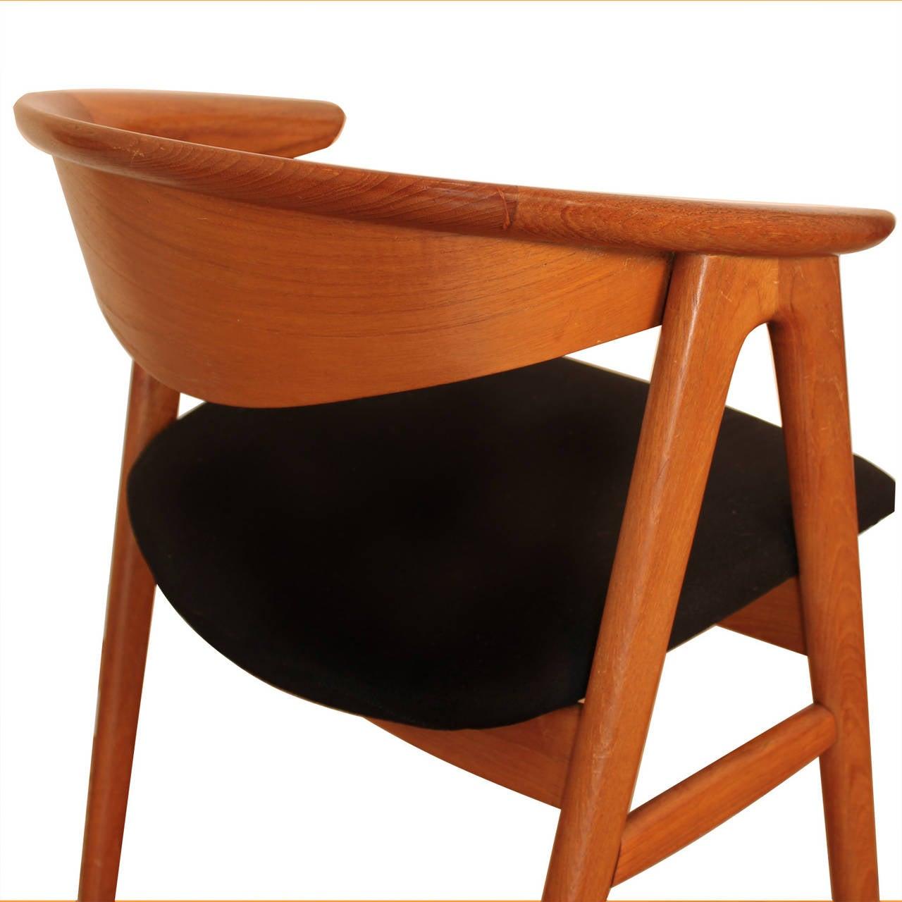 erik kirkegaard teak compass sculpted chair for sale at