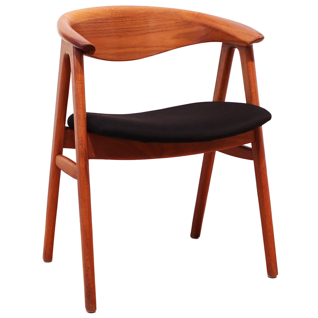 erik kirkegaard teak compass sculpted chair at 1stdibs