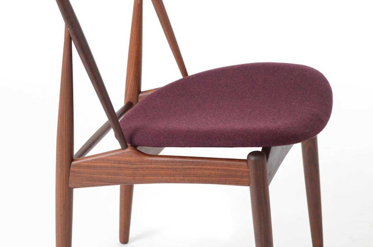 Mid Century Danish Modern Teak Dining Chairs in