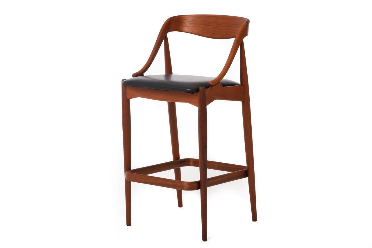 Mid Century Danish Modern Teak Barstools Set Of Two By