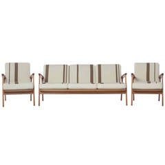 Midcentury Danish Modern 'Esbjerg' Sofa and Lounge Chairs