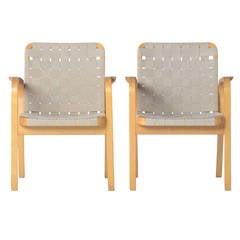 Mid-Century Scandinavian Modern Bentwood Chairs by Alvar Aalto