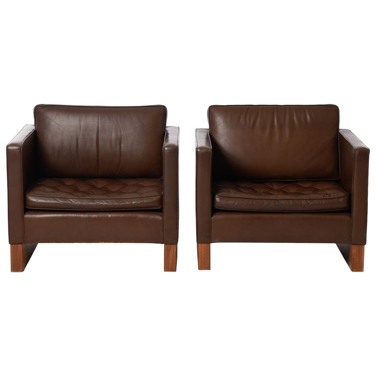 mid century pair of lounge chairs by mies van der rohe for seagram building for sale at 1stdibs. Black Bedroom Furniture Sets. Home Design Ideas