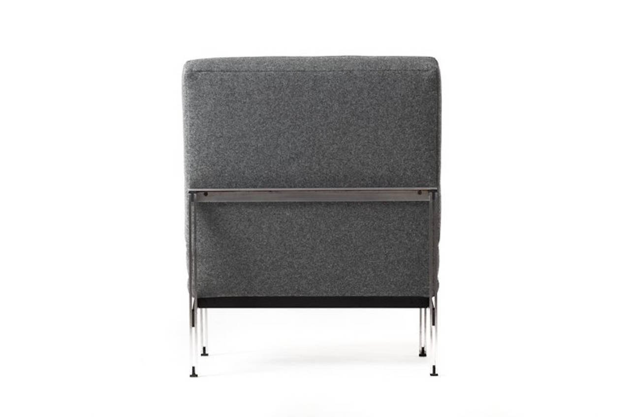 Vintage Mid-Century Modern Parallel Bar Lounge Chair by Florence Knoll In Excellent Condition For Sale In Minneapolis, MN