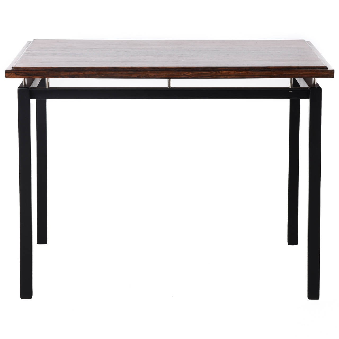 Danish modern rosewood side table with metal base vintage for Side table base