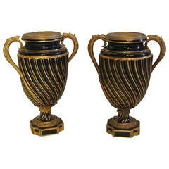 Pair of Vases Sèvres, Mounts Anses and Gilt Bronze