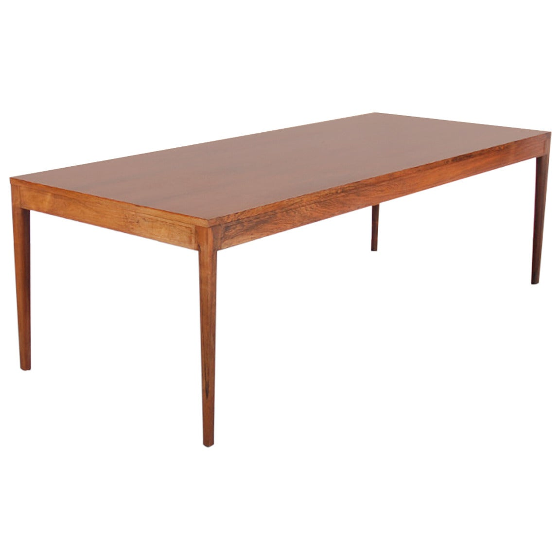 Long diplomat dining table in brazilian rosewood by finn for Long dining room table