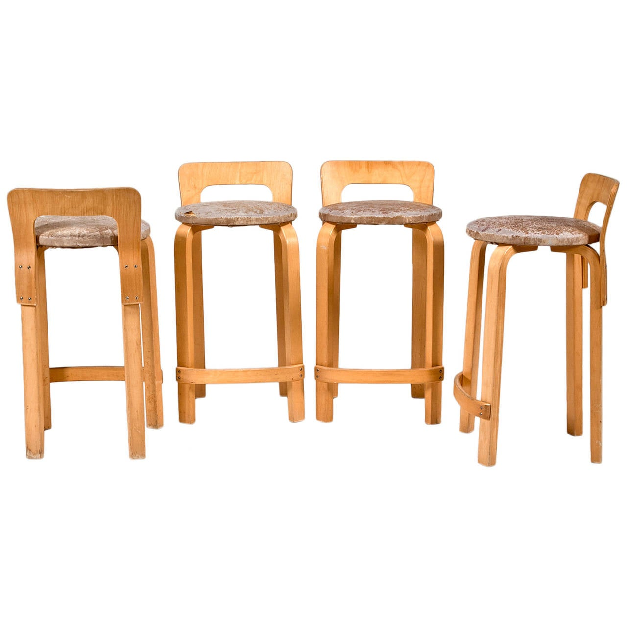 High Chair K65 (set Of 4) By Alvar Aalto From Artek 2nd Cycle For