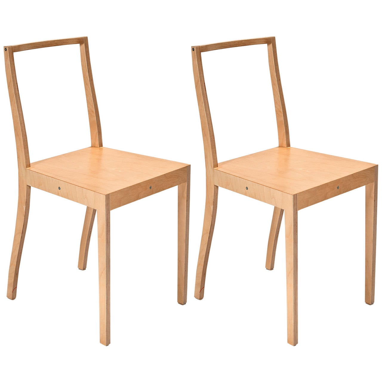 Ply Chair Open Back Pair Of Chairs By Jasper Morrison For Vitra For Sale