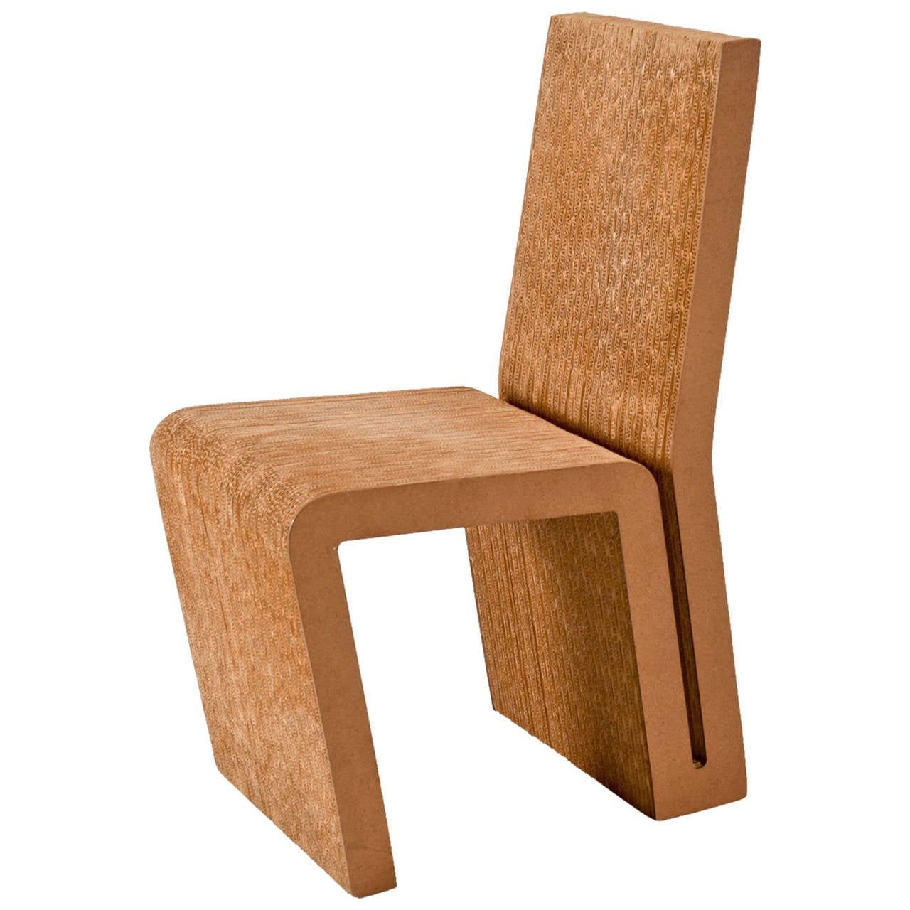 Corrugated Cardboard Furniture Frank Gehry Side Chair In Cardboard For Vitra Edition For Sale At