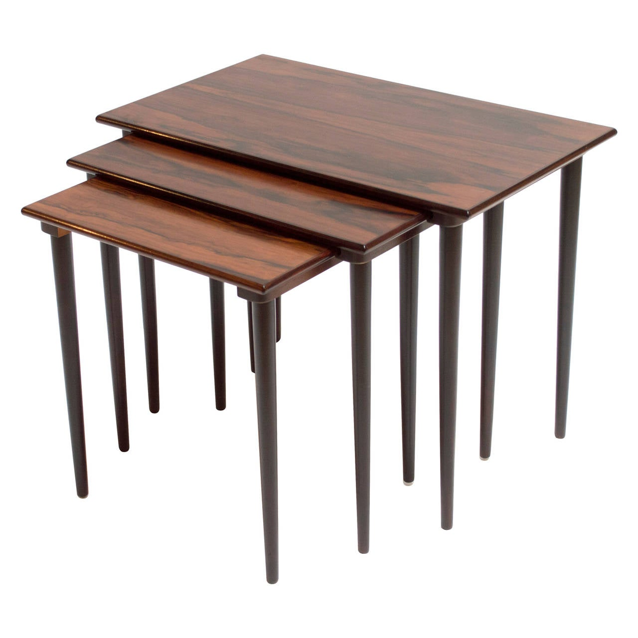Set Of Scandinavian Rosewood Nesting Tables By Westnofa At 1stdibs. Full resolution  photo, nominally Width 1280 Height 1280 pixels, photo with #8E5E3D.