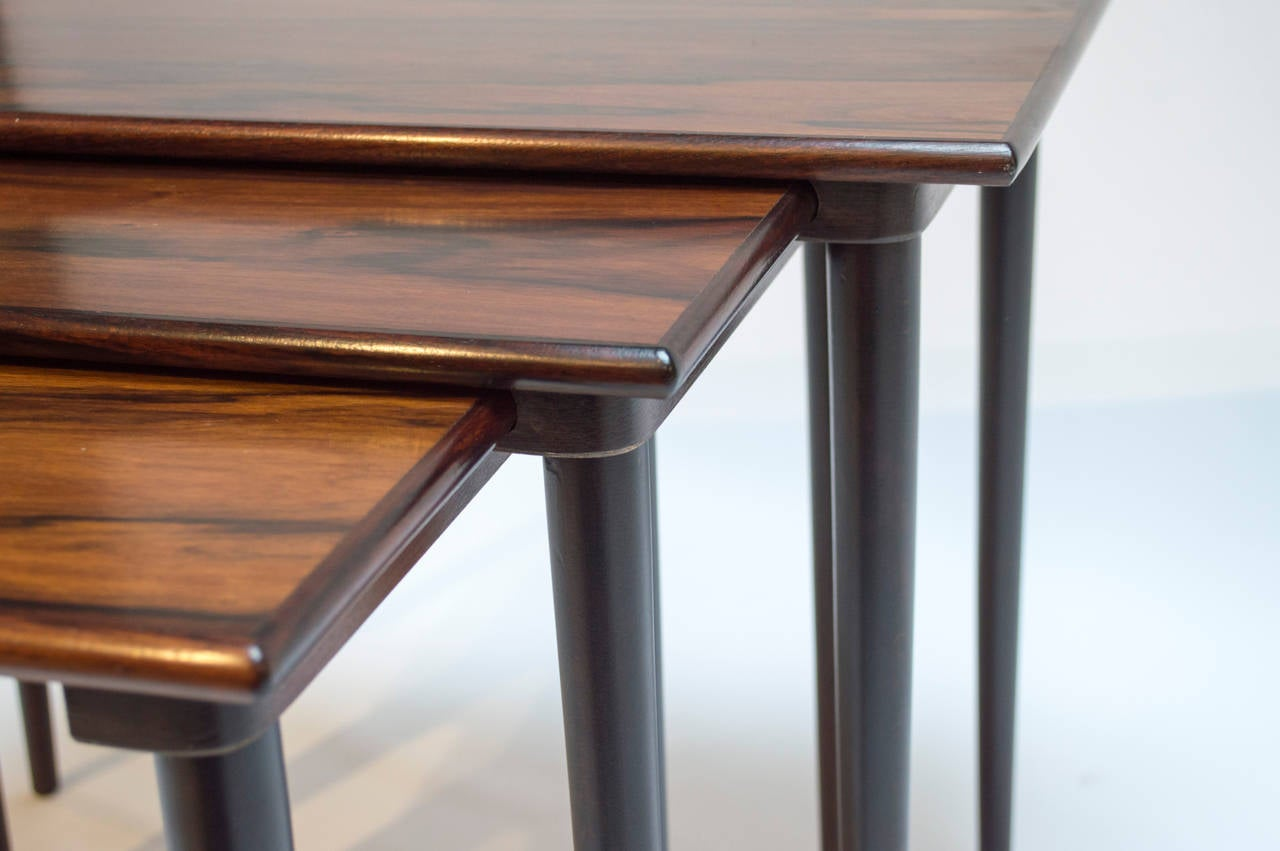 Set Of Scandinavian Rosewood Nesting Tables By Westnofa At 1stdibs. Full resolution  photo, nominally Width 1280 Height 851 pixels, photo with #704229.
