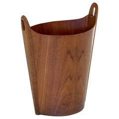 P.S. Heggen Teak Wastepaper Basket by Einar Barnes