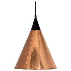 Large Ceiling Lamp in Copper