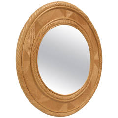 Large Bamboo Wall Mirror by DUX