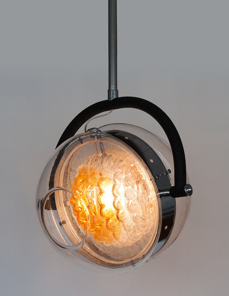 Sculptural Mazzega Glass Sphere Pendant Chandelier At 1stdibs