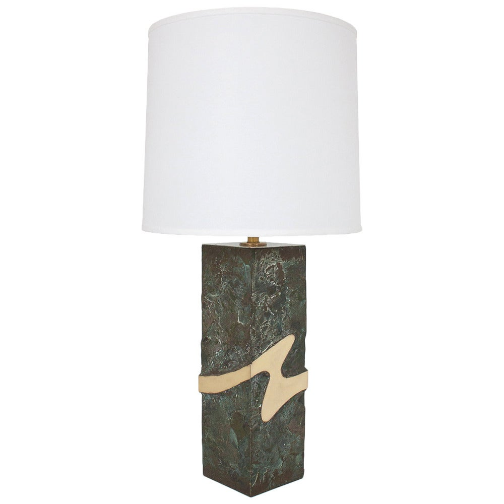 Unique Bronze And Brass Brutalist Table Lamp At 1stdibs