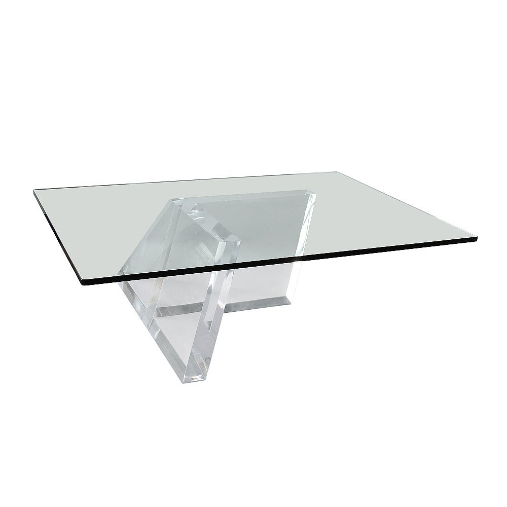 Lucite Parallelograms Coffee Table By Jeffrey Bigelow At 1stdibs