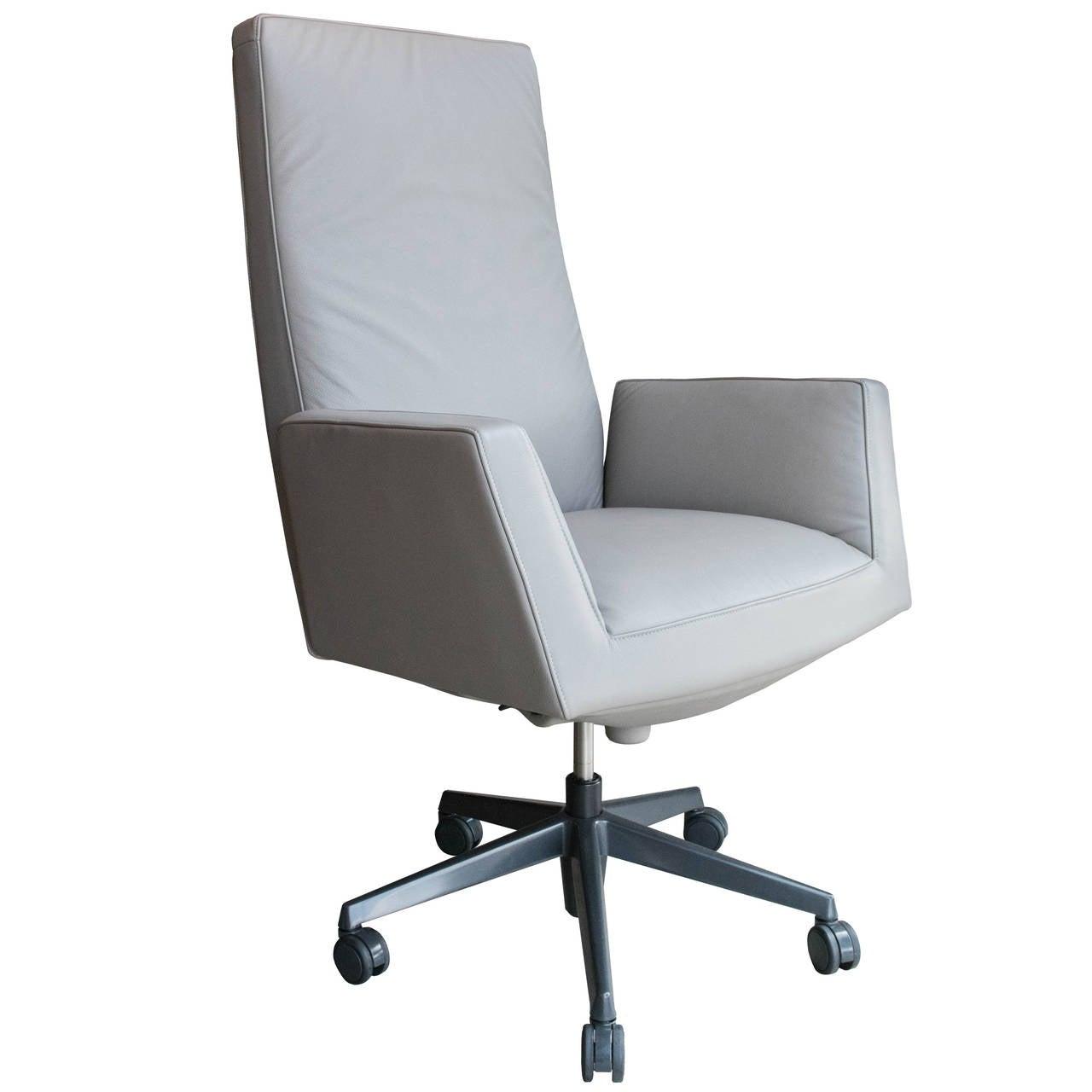 Leather sofa by poltrona frau at 1stdibs - Poltrona Frau Chancellor President Chair 1