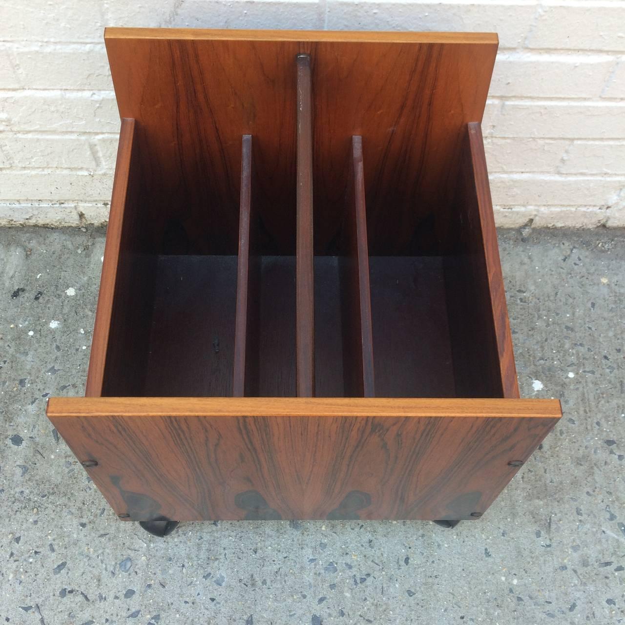near mint bruksbo rosewood magazine cart for sale at 1stdibs. Black Bedroom Furniture Sets. Home Design Ideas