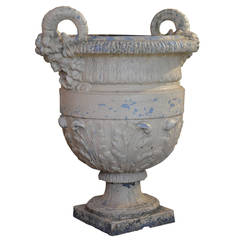 French Cast Iron Garden Urn Attributed to the Foundry Val d'Osne, circa 1870