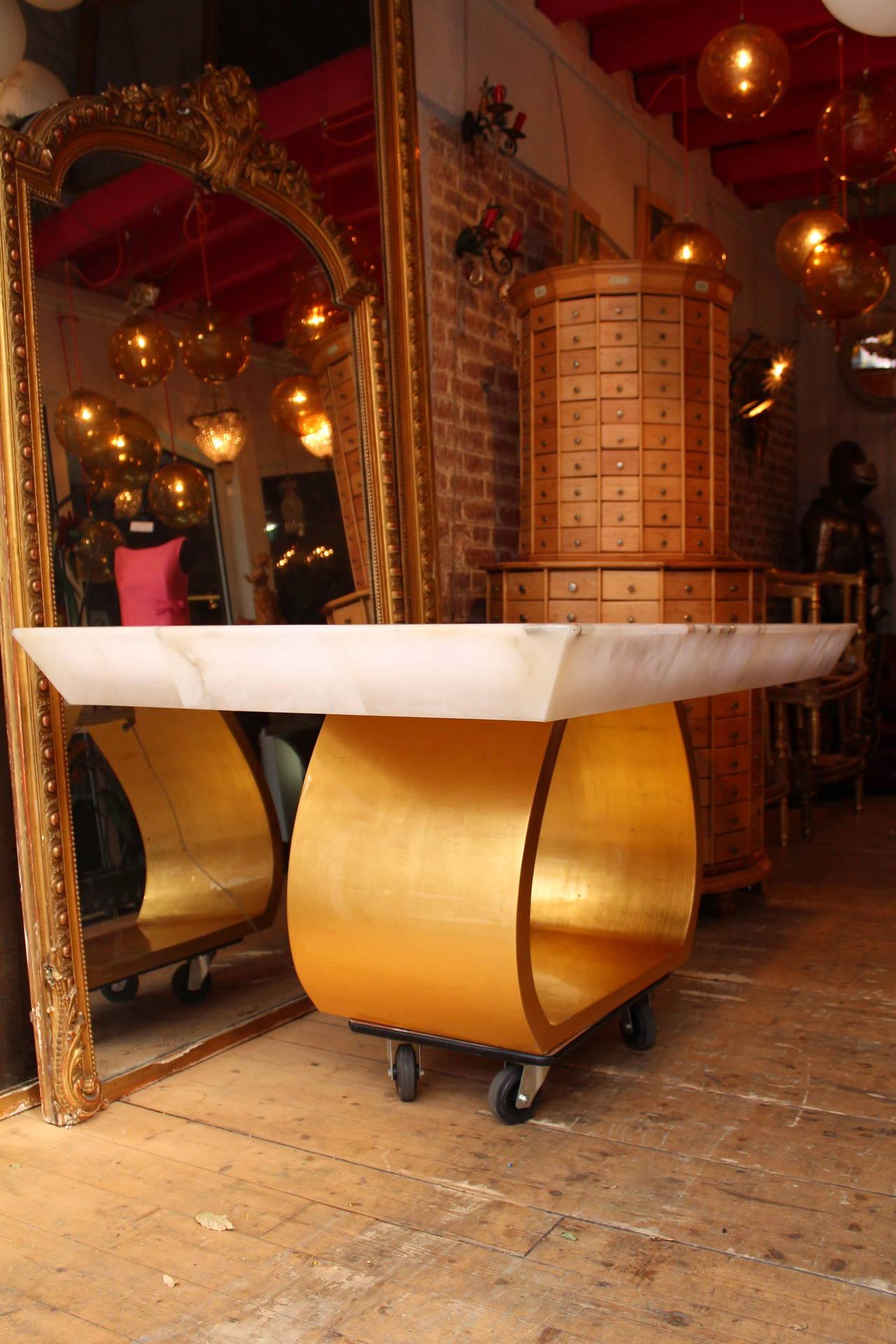 table ring atelier alain ellouz 2008 alabaster for sale at 1stdibs. Black Bedroom Furniture Sets. Home Design Ideas