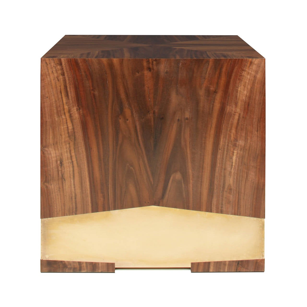 """Soil"" Side Table in California Black Walnut and Etched Bronze by Studio Roeper 4"