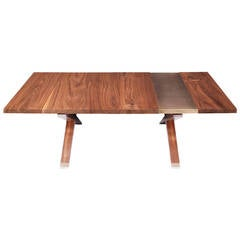 """Hollywood"" Coffee Table in Walnut and Etched Bronze by Studio Roeper"