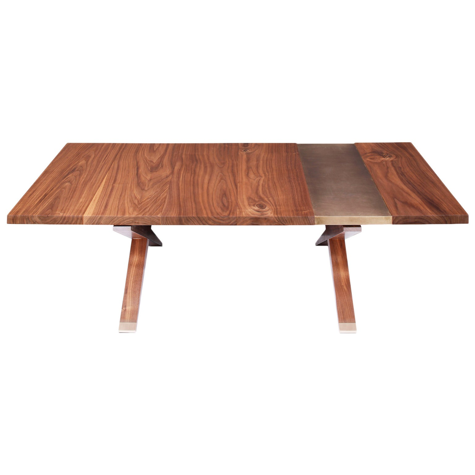 """""""Hollywood"""" Coffee Table in Walnut and Etched Bronze by Studio Roeper"""