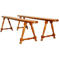 19th Century French Country Farmhouse Benches