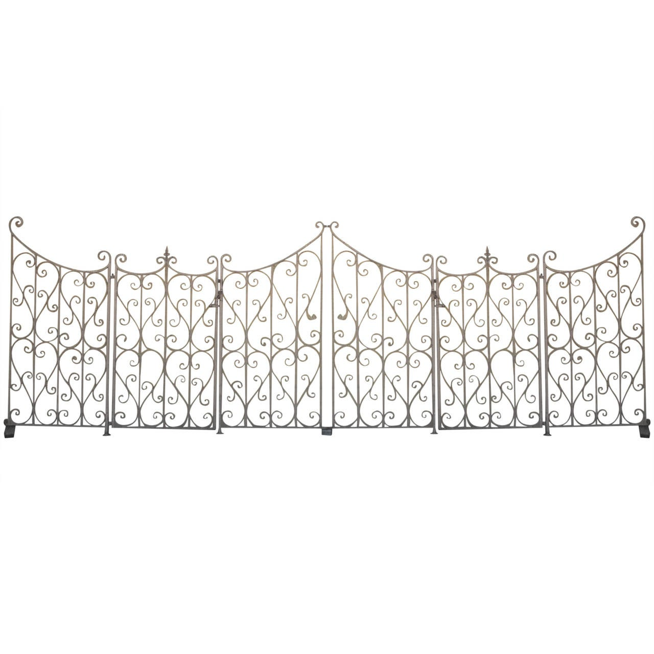 French Wrought Iron Garden Gate or Fence 1