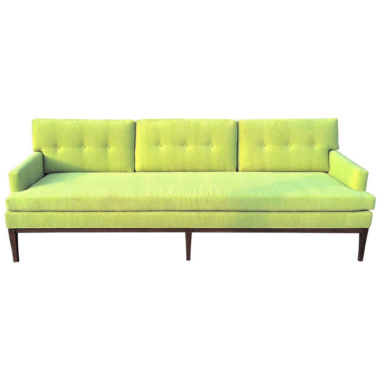 Mid Century Modern Paul Mccobb Directional Upholstered Walnut Sofa At 1stdibs