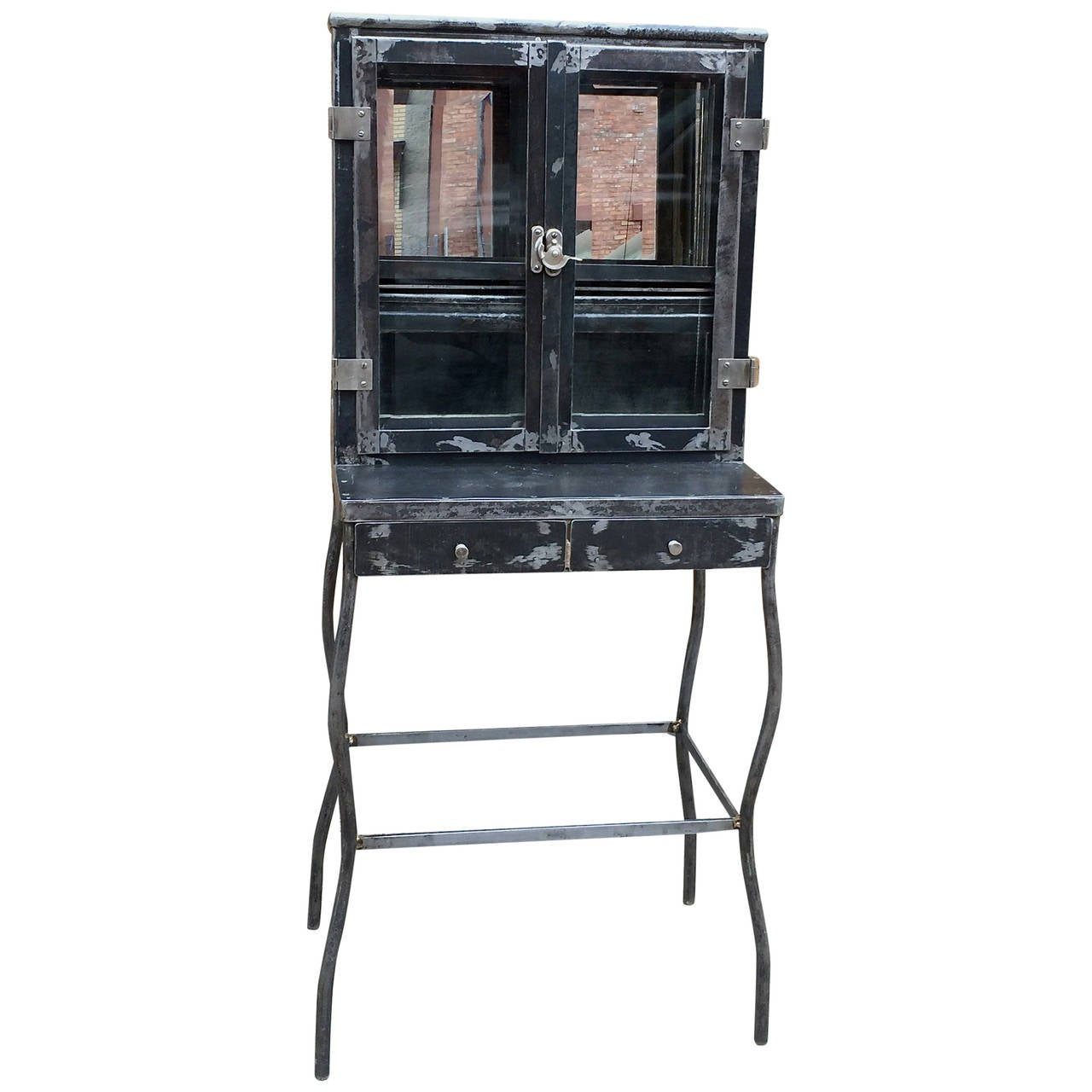 Brushed Steel Apothecary Dentist Medicine Cabinet For Sale At 1stdibs