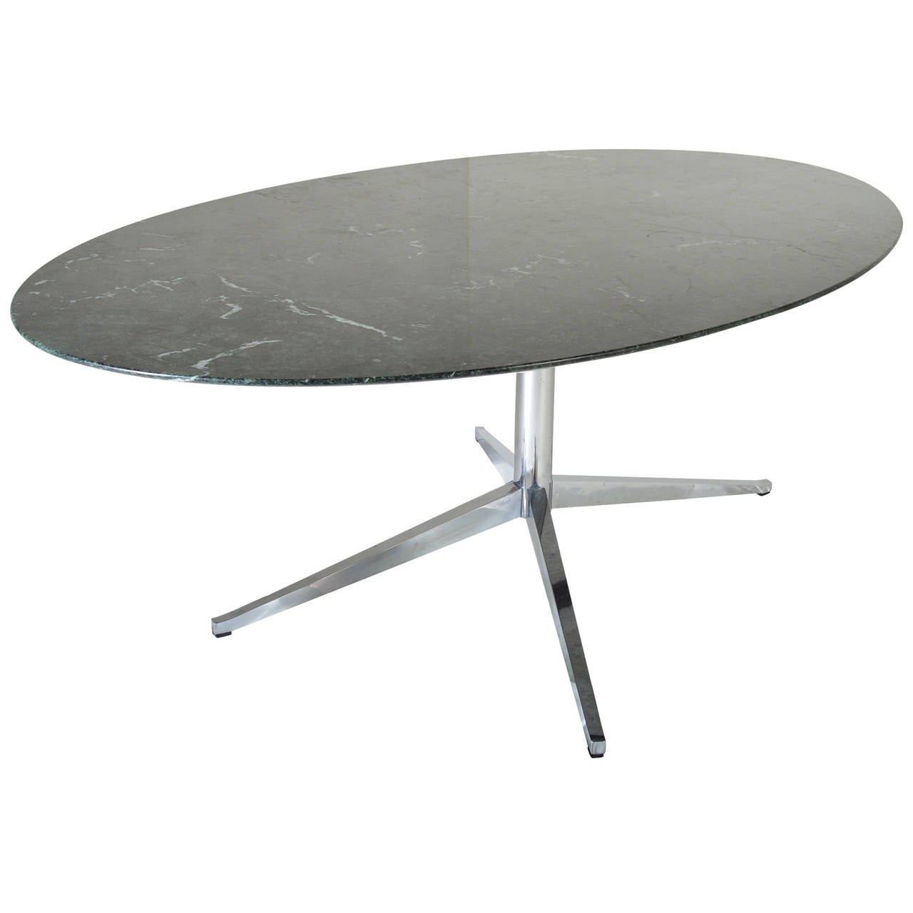 Verde Marble Oval Dining Table By Florence Knoll For Knoll