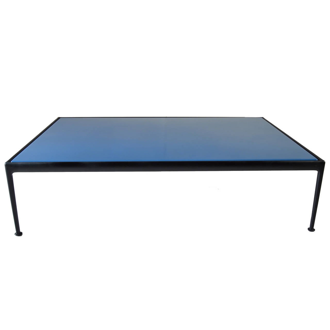 Richard Schultz For Knoll Outdoor Coffee Table In Rare Blue And Black At 1stdibs