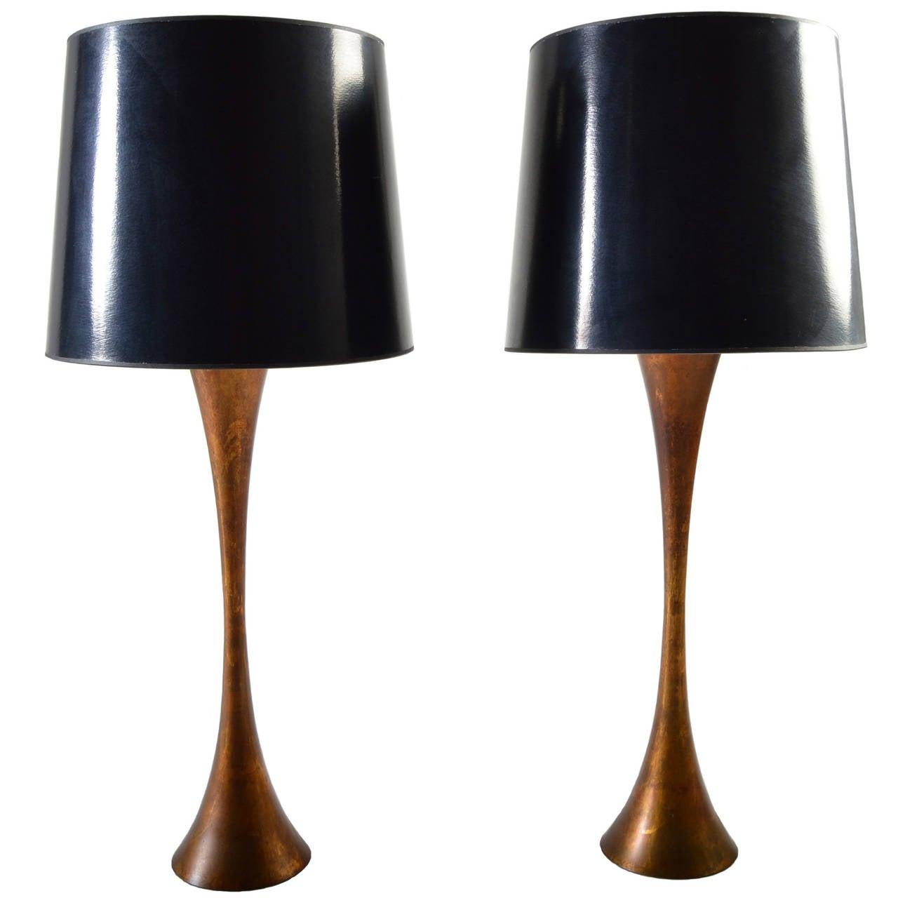 Pair of Hourglass Form Table Lamps by Stewart Ross James for ...