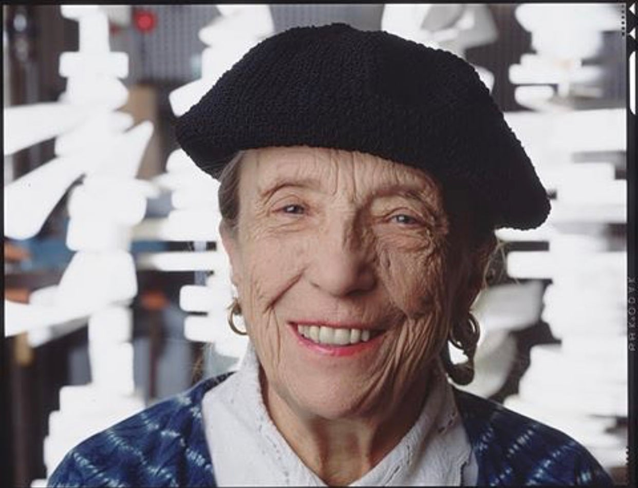 Louise Bourgeois in her Studio, New York, Contemporary Woman Artist Photograph