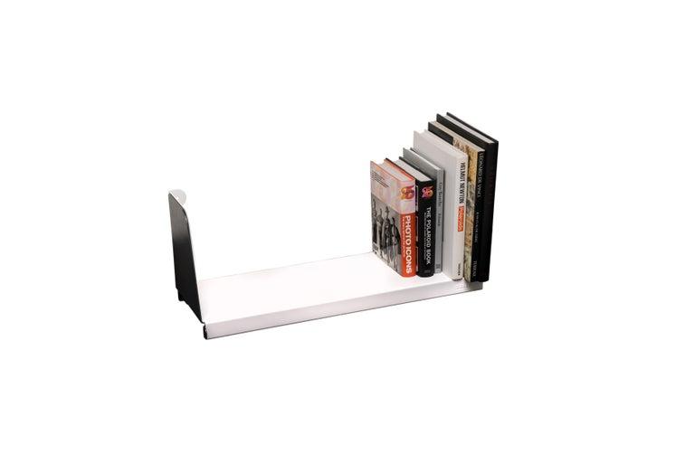 For Sale: White (Blanc) Aluminum Extra Large Sliding Double Shelf in by Sebastian Bergne and Tolix 3