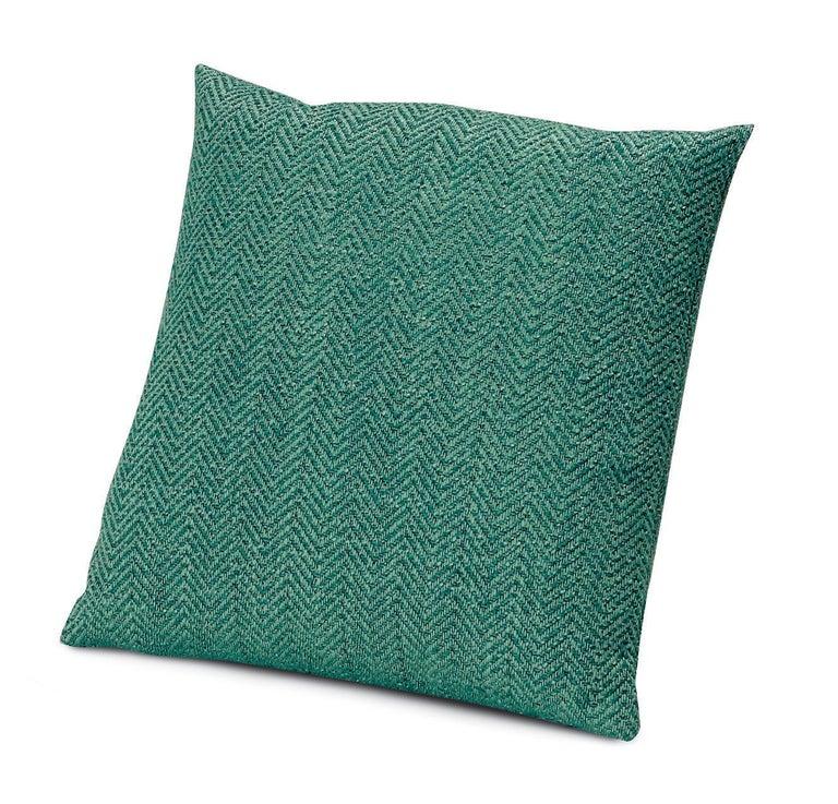 For Sale: Blue (1O4CU00729-70) Ojus Small Chevron Yarn-Dyed Cushion by MissoniHome