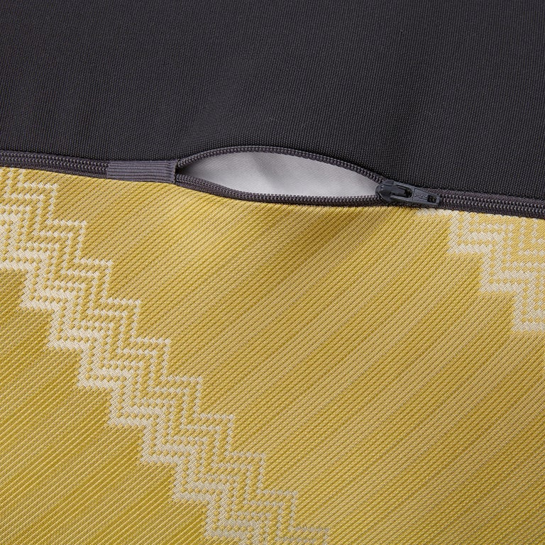 For Sale: Gold (1P4LV00101-P261 (162)) Wells Reversible Patchwork Jacquard Diamante Pouf by MissoniHome 2