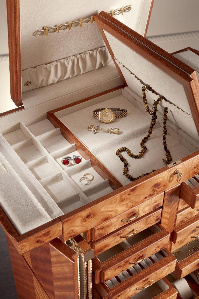 For Sale: Brown (Briar Wood) Agresti Il Grande Scrigno Jewelry Armoire 3