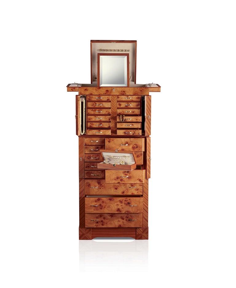 For Sale: Brown (Briar Wood) Agresti Il Grande Scrigno Jewelry Armoire 2