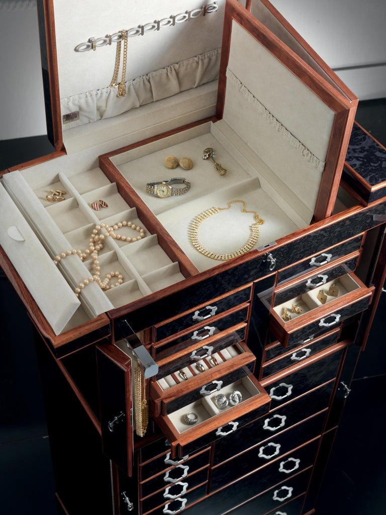 For Sale: Black (Ebony) Agresti Il Grande Scrigno Jewelry Armoire 2
