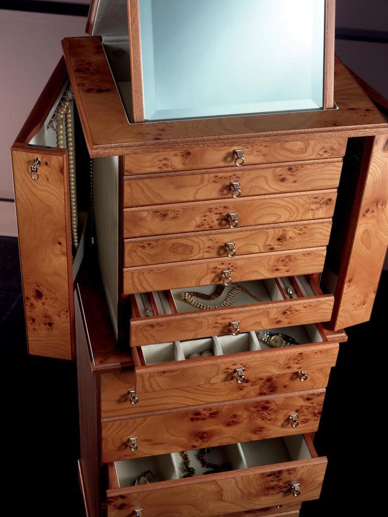 For Sale: Brown (Briar Wood) Agresti Lo Scrigno Jewelry Armoire 3