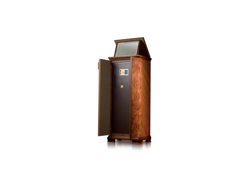 For Sale: Brown (Briar Wood) Agresti Gioia Jewelry Armoire 2