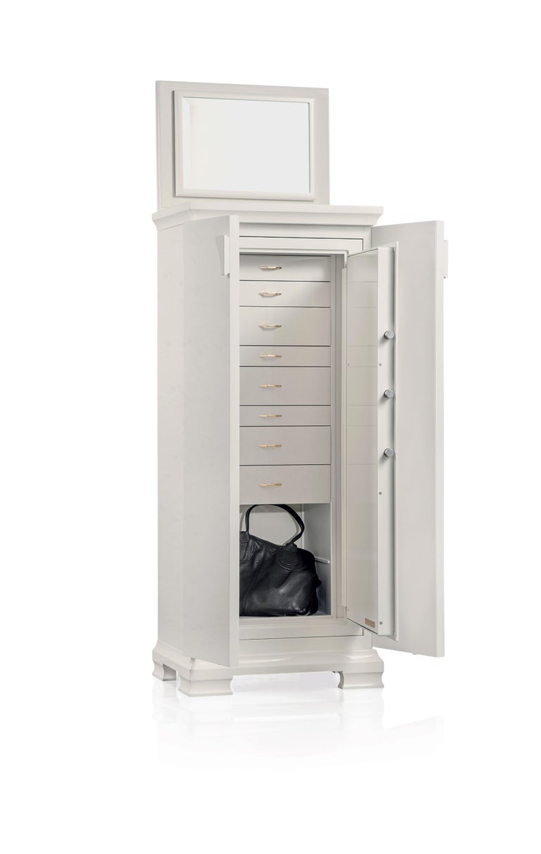 For Sale: White (White Bird's Eye Maple) Agresti Gioia Jewelry Armoire 2