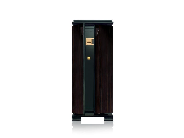 For Sale: Black (Ebony) Agresti Gioia Jewelry Armoire
