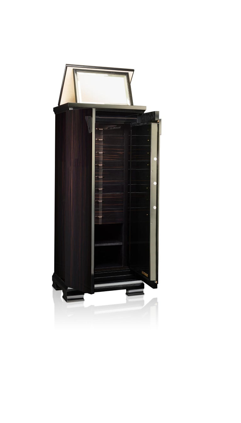 For Sale: Black (Ebony) Agresti Gioia Jewelry Armoire 2